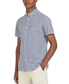 Men's Gingham Seersucker Shirt