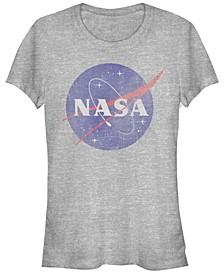 Juniors NASA Logo Cowl Neck T-shirt