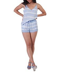 Petite Tie-Dye Frayed-Hem Shorts