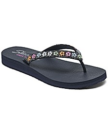 Women's Cali Meditation Daisy Delight Flip-Flop Thong Athletic Sandals from Finish Line