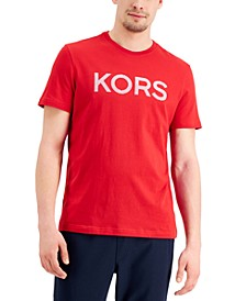Men's Stripe-Logo Graphic T-Shirt, Created for Macy's