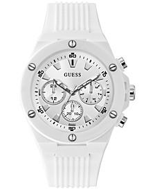 Men's White Silicone Strap Watch 46mm