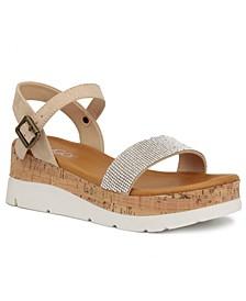 Women's Goldie Embellished Flatform Wedge Sandals