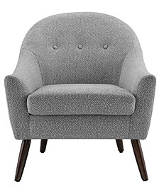 Colby White Dots Accent Chair