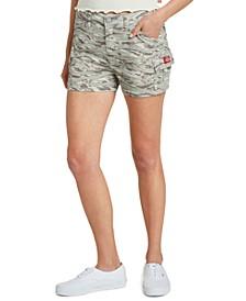 Juniors' Camo-Print Cargo Shorts