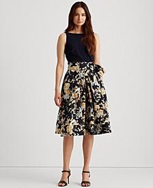 Floral Sleeveless Faille Dress
