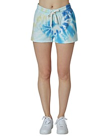 Juniors' Tie-Dye Sweat Shorts