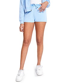 Juniors' Playa Acid-Wash Shorts