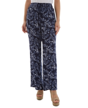 Juniors' Floral-Print Pants