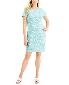 Floral-Print T-Shirt Dress, Created for Macy's