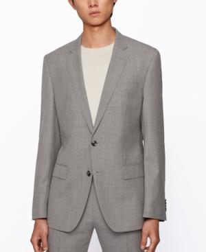 Hugo Boss Suits BOSS MEN'S MICRO-PATTERN SLIM-FIT SUIT