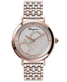 Women's Swiss Logomania Two-Tone Stainless Steel Bracelet Watch 36mm