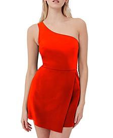 Whisper One-Shoulder Envelope Dress
