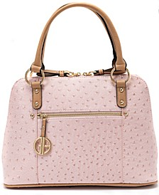 Faux Ostrich Dome Satchel, Created for Macy's
