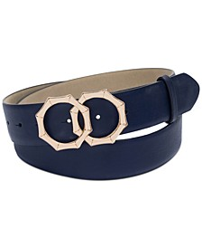 Double-Circle Bamboo-Buckle Belt, Created for Macy's