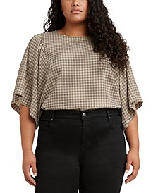 Plus Size Lucy Printed Dolman-Sleeve Top