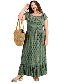 Plus Size On/Off-Shoulder Maxi Dress, Created for Macy's