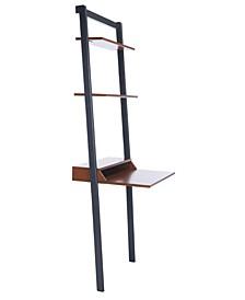 Pamella 2 Shelf Leaning Desk