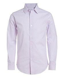 Big Boys Stretch Dot Print Shirt