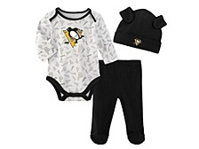 Infant Pittsburgh Penguins Li'l Player 3-Pc. Pants & Hat Set