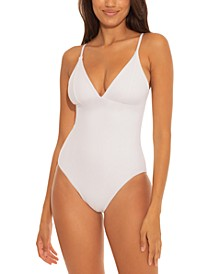Fine Line Ribbed One-Piece Swimsuit