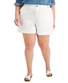 Plus Size Flutter Shorts, Created for Macy's
