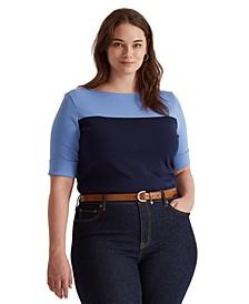 Plus Size Colorblocked Top