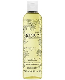 Pure Grace Tropical Summer Nourishing In-Shower Oil, 8-oz.