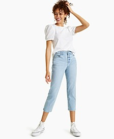 Petite Emmylou Cropped Straight-Leg Jeans, Created for Macy's