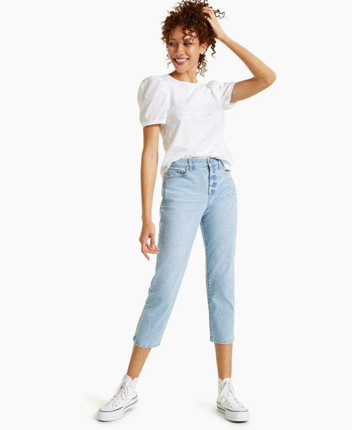Style & Co High-Rise Straight Crop Jeans, Created for Macy's & Reviews - Jeans - Women - Macy's