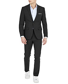 Men's Solid Skinny-Fit Wrinkle-Resistant Wool Suit Separates, Created for Macy's