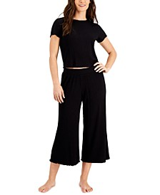 Ribbed Capri Pajama Pants Set, Created for Macy's