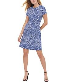 Petite Atlas Paisley-Print Dress
