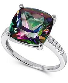 Mystic Topaz (8-1/2 ct. t.w.) & Diamond (1/20 ct. t.w.) Statement Ring in 14k White Gold