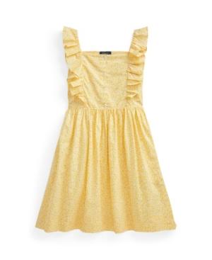 Polo Ralph Lauren Cottons BIG GIRLS FLORAL POPLIN DRESS