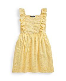 Toddler Girls Floral Poplin Dress