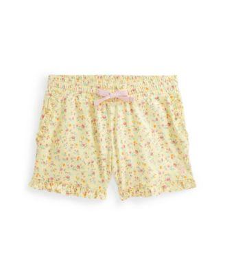 폴로 랄프로렌 여아용 반바지 Polo Ralph Lauren Toddler Girls Floral Jersey Shorts,Yellow Multi Floral