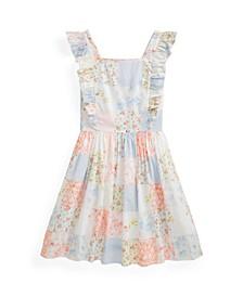 Big Girls Patchwork Poplin Dress