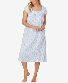 Printed Cotton Jersey Nightgown