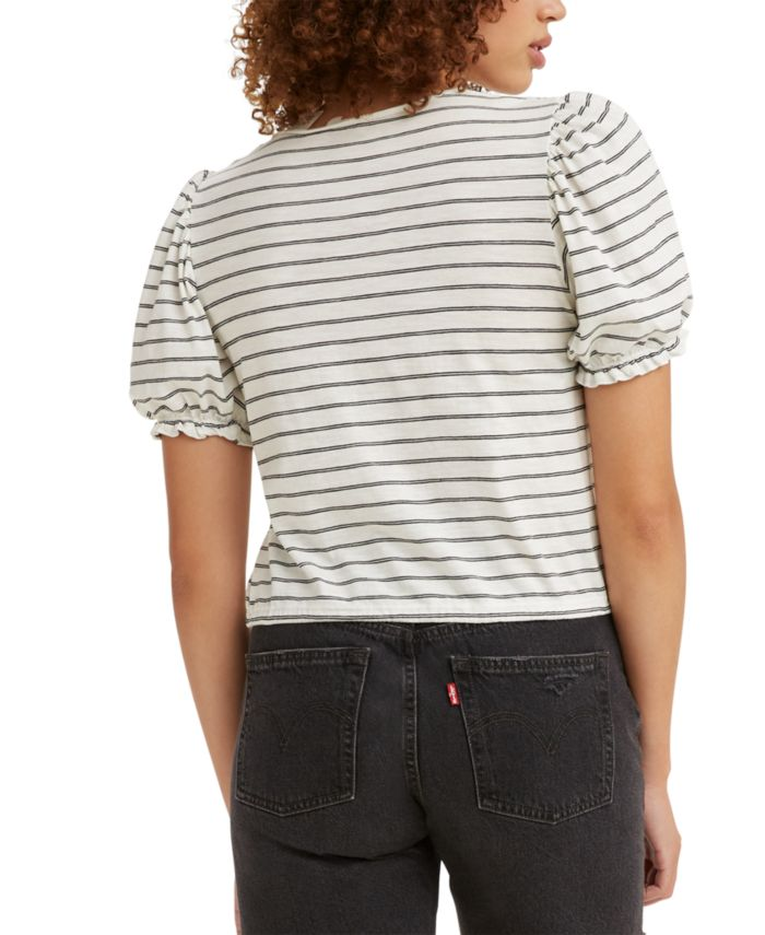 Levi's Women's Puff-Sleeve T-Shirt & Reviews - Tops - Juniors - Macy's