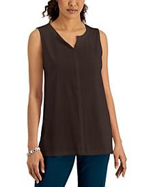 Split-Neck Sleeveless Tunic, Created for Macy's
