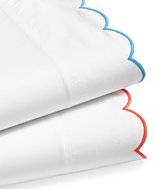 Scalloped 100% Egyptian Cotton Percale 400 Thread Count Sheet Sets, Created for Macy's
