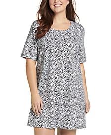 Plus Everyday Essentials Cotton Short Sleeve Sleep Shirt Nightgown
