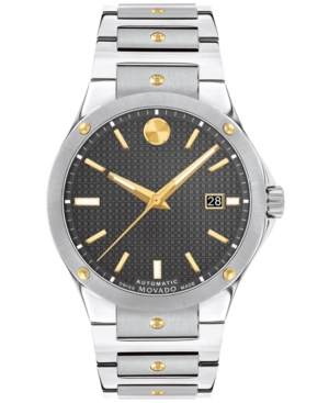 MOVADO MEN'S SWISS AUTOMATIC SPORTS EDITION STAINLESS STEEL & GOLD PVD BRACELET WATCH 41MM