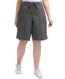 Plus Size Cotton Convertible Bermuda Shorts