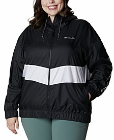 Plus Size Sandy Sail Windbreaker Jacket