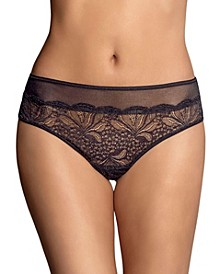 Women's Mid-Rise Sheer Lace Cheeky Panty