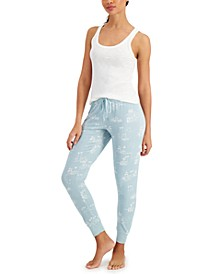 Ribbed Sleep Tank Top & Jogger Pants, Created for Macy's