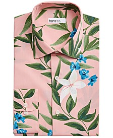 Men's Slim-Fit Tropical Floral-Print Dress Shirt, Created for Macy's