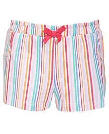 Toddler Girls Rainbow Stripes Cotton Shorts, Created for Macy's